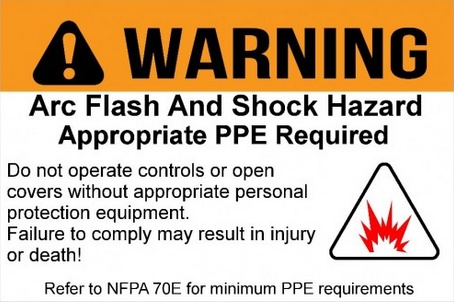 generic arc flash label